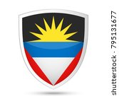 antigua and barbuda flag vector ... | Shutterstock .eps vector #795131677
