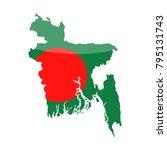 bangladesh flag country contour ... | Shutterstock .eps vector #795131743