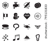 solid black vector icon set  ... | Shutterstock .eps vector #795131833