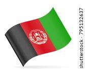 afghanistan flag vector waving... | Shutterstock .eps vector #795132637
