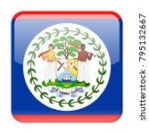 belize flag vector square icon  ... | Shutterstock .eps vector #795132667
