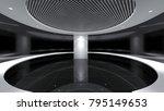 modern empty room  3d render...   Shutterstock . vector #795149653