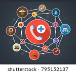 medical flat icon concept.... | Shutterstock .eps vector #795152137