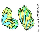 butterfly wings vector... | Shutterstock .eps vector #795156613
