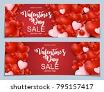 valentines day sale  discont... | Shutterstock .eps vector #795157417