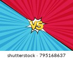 fight backgrounds comics style... | Shutterstock .eps vector #795168637