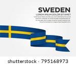 sweden flag background | Shutterstock .eps vector #795168973