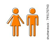 male and female sign. vector....   Shutterstock .eps vector #795170743