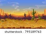 vector seamless desert... | Shutterstock .eps vector #795189763