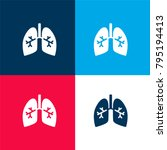 lungs with bronchi  four color...