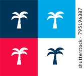 coconut tree four color... | Shutterstock .eps vector #795196387