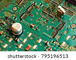 electronic circuit board close... | Shutterstock . vector #795196513