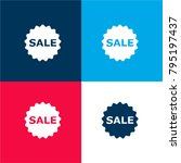 sale badge four color material...