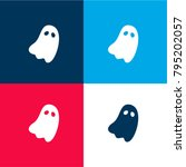 halloween ghost four color... | Shutterstock .eps vector #795202057