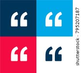 left quote four color material...