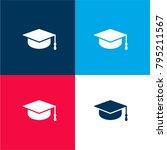 graduate cap four color...