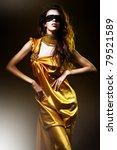 sensual adult woman in golden... | Shutterstock . vector #79521589