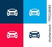 sedan car front four color... | Shutterstock .eps vector #795218083