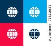 earth globe symbol of grid four ...