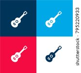 guitar four color material and...