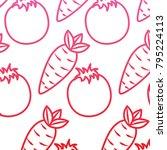 tomato and carrot vegetables...   Shutterstock .eps vector #795224113