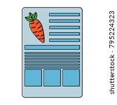 carrot information document...   Shutterstock .eps vector #795224323