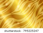realistic zebra gold shiny