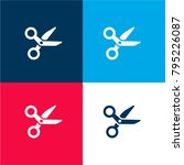 opened medical scissors four... | Shutterstock .eps vector #795226087
