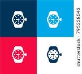 wristwatch of circular shape...