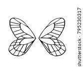 butterfly wings vector... | Shutterstock .eps vector #795230317