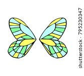 butterfly wings vector... | Shutterstock .eps vector #795230347