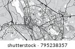 urban vector city map of oxford