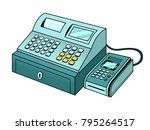 cash register with point of... | Shutterstock .eps vector #795264517