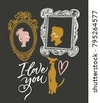 illustration for valentine's... | Shutterstock .eps vector #795264577
