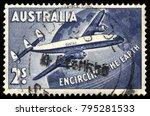 australia   1958  2s blue... | Shutterstock . vector #795281533
