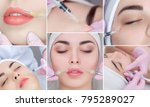 collage rejuvenating facial... | Shutterstock . vector #795289027