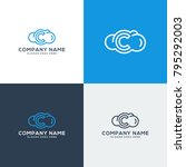 cloud logo  cloud icon with... | Shutterstock .eps vector #795292003