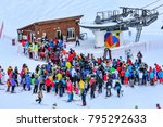 sochi  russia   january 7  2018 ...   Shutterstock . vector #795292633