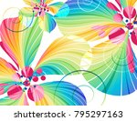 abstract multicolored flowers... | Shutterstock . vector #795297163