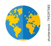 world map globe flat icon ...   Shutterstock .eps vector #795297583