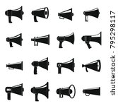megaphone loud speaker icons... | Shutterstock .eps vector #795298117