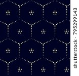 decorative sashiko print for... | Shutterstock .eps vector #795299143