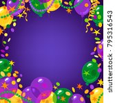mardi gras carnival background... | Shutterstock .eps vector #795316543
