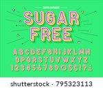 abstract font  letters and... | Shutterstock .eps vector #795323113