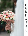 bride in a luxurious wedding... | Shutterstock . vector #795333973