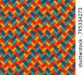 herringbone wallpaper. abstract ... | Shutterstock .eps vector #795334273