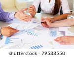 financial and business... | Shutterstock . vector #79533550