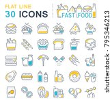 set of vector line icons  sign... | Shutterstock .eps vector #795346213