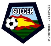soccer emblem on a white... | Shutterstock .eps vector #795354283