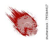 fingerprint in blood in grunge... | Shutterstock .eps vector #795364417